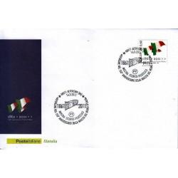 FDC ITALIA Marcofilia Annullo speciale 16/03/2011 Alfonsine 150° An. Unità D'italia