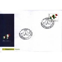 FDC ITALIA Marcofilia Annullo speciale 16/03/2011 Maddaloni 150° An. Unità D'italia