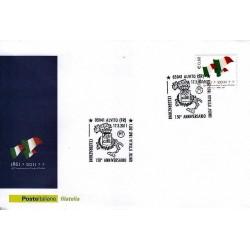 FDC ITALIA Marcofilia Annullo speciale n° 178 17/03/2011 Alvito