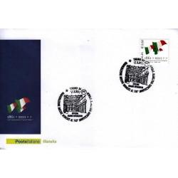 FDC ITALIA Marcofilia Annullo speciale n° 256 17/03/2011 Torino