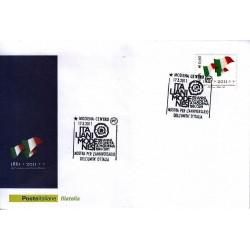 FDC ITALIA Marcofilia Annullo speciale n° 155 17/03/2011 Modena Centro