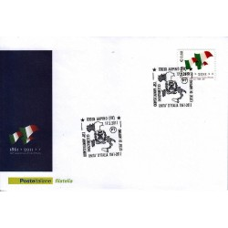 FDC ITALIA Marcofilia Annullo speciale n° 154 17/03/2011 Arpino