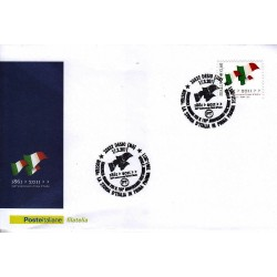 FDC ITALIA Marcofilia Annullo speciale n° 270 17/03/2011 Desio