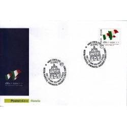 FDC ITALIA Marcofilia Annullo speciale n° 157 19/03/2011 Cento