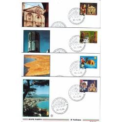 FDC ITALIA 1996 Filagrano Unif. 2252/5 Propaganda Turistica Annullo Bolzano