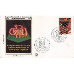 FDC ITALIA 1988 Filagrano Gold Unif. 1861 Gastroenterologia