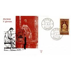 FDC ITALIA 1961 ALA - Plinio il giovane 30 £ - annullo Como