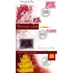 FDC ITALIA 2006 Cartolina Poste Italiane Unif. 2980/1 Natale AS/Roma 3 Pz.