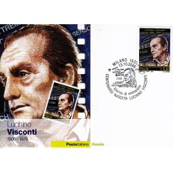 FDC ITALIA 2006 Cartolina Poste Italiane Unif. 2978 Luchino Visconti AS