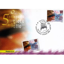 FDC ITALIA 2006 Cartolina Poste Italiane Unif. 2976 Gioco del Lotto AS