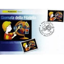 FDC ITALIA 2006 Cartolina Poste Italiane Unif. 2975 Giornata della filatelia AS