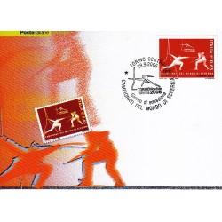 FDC ITALIA 2006 Cartolina Poste Italiane Unif. 2974 Campionati di scherma AS
