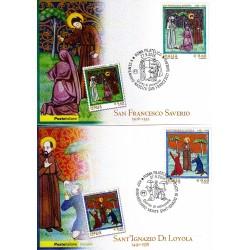 FDC ITALIA 2006 Cartolina Poste Italiane Unif. 292/3 Sant'Ignazio S. Francesco AS
