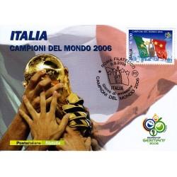 FDC ITALIA 2006 Cartolina Poste Italiane Unif. 2969 Campioni del Mondo AS