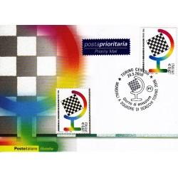 FDC ITALIA 2006 Cartolina Poste Italiane Unif. 2957 Mondiali di Scacchi