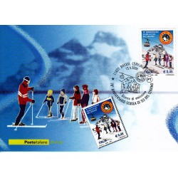 FDC ITALIA 2006 Cartolina Poste Italiane Unif. 2942 Scuola di Sci del Cervino