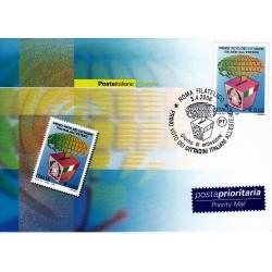 FDC ITALIA 2006 Cartolina Poste Italiane Unif. 2940 Voto degli Italiani all'estero