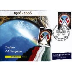 FDC ITALIA 2006 Cartolina Poste Italiane Unif. 2934 Traforo del Sempione