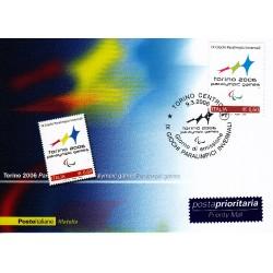 FDC ITALIA 2006 Cartolina Poste Italiane Unif. 2929 Giochi Paralimpici