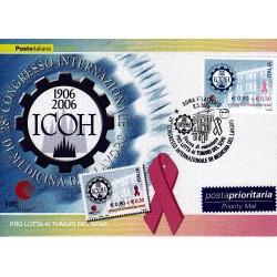 FDC ITALIA 2006 Cartolina Poste Italiane Unif. 2928 Medicina del lavoro
