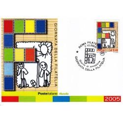 FDC ITALIA 2005 Cartolina Poste Italiane Unif. 2889 Giornata Della Filatelia