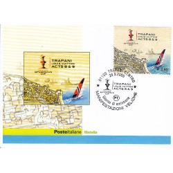FDC ITALIA 2005 Cartolina Poste Italiane Unif. 2887 Trapani Luis Vuitton
