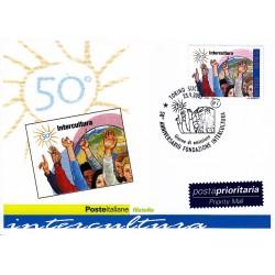 FDC ITALIA 2005 Cartolina Poste Italiane Unif. 2886 Associazione Intercultura Onlus