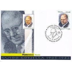 FDC ITALIA 2005 Cartolina Poste Italiane Unif. 2884 Guido Gonella