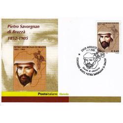 FDC ITALIA 2005 Cartolina Poste Italiane Unif. 2883 P. Savorgnan di Brazzà