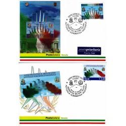 FDC ITALIA 2005 Cartolina Poste Italiane Unif. 2881/2 Pattuglia Acrobatica