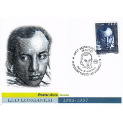 FDC ITALIA 2005 Cartolina Poste Italiane Unif. 2879 Leo Longanesi