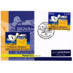 FDC ITALIA 2005 Cartolina Poste Italiane Unif. 2876 Gioventù Europea