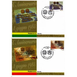 FDC ITALIA 2005 Cartolina Poste Italiane Unif. 2873/4 Concordato Santa Sede e Italia