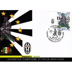 FDC ITALIA 2005 Cartolina Poste Italiane Unif. 2872 Juventus Campione D'Italia