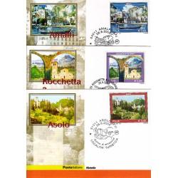 FDC ITALIA 2005 Cartolina Poste Italiane Unif. 2868/70 Propaganda Turistica