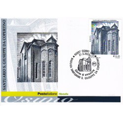 FDC ITALIA 2005 Cartolina Poste Italiane Unif. 2867 Santuario San Giuseppe Da Copertino