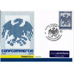 FDC ITALIA 2005 Cartolina Poste Italiane Unif. 2865 Confcommercio