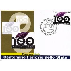 FDC ITALIA 2005 Cartolina Poste Italiane Unif. 2860 Ferrovie dello Stato