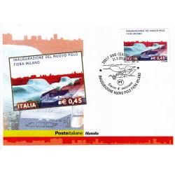 FDC ITALIA 2005 Cartolina Poste Italiane Unif. 2859 Nuovo Polo Fiera Milano