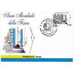 FDC ITALIA 2005 Cartolina Poste Italiane Unif. 2858 Anno Mondiale Fisica