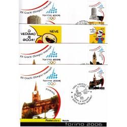 FDC ITALIA 2005 Cartolina Poste Italiane Unif. 2854/7 Giochi Olimpici Invernale