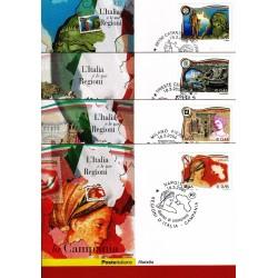 FDC ITALIA 2005 Cartolina Poste Italiane Unif. 2850/3 Regioni D'Italia
