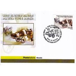 FDC ITALIA 2005 Cartolina Poste Italiane Unif. 2846 Esodo dall'Istria Fiume e D'almazia