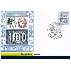 FDC ITALIA 2005 Cartolina Poste Italiane Unif. 2843 Alto Valore € 1,00