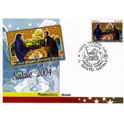 FDC ITALIA 2004 Cartolina Poste Italiane Unif. 2829 Il Santo Natale