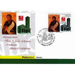 FDC ITALIA 2004 Cartolina Poste Italiane Unif. 2819 San Nilo di Rossano