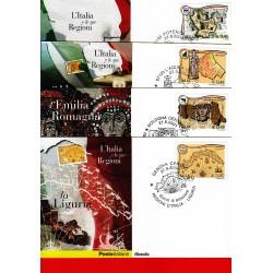 FDC ITALIA 2004 Cartolina Poste Italiane Unif. 2814/7 Regione D'Italia