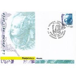 FDC ITALIA 2004 Cartolina Poste Italiane Unif. 2813 La Donna Nell'Arte 0,70 €
