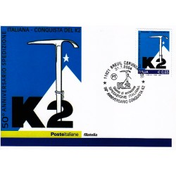 FDC ITALIA 2004 Cartolina Poste Italiane Unif. 2812 Conquista K2