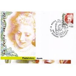 FDC ITALIA 2004 Cartolina Poste Italiane Unif. 2810 La Donna nell'arte € 0.90